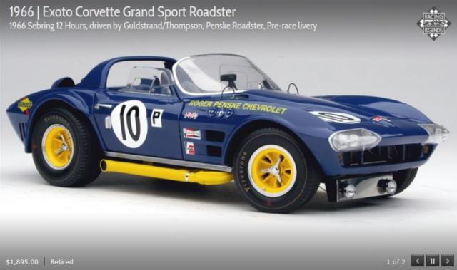 Exoto Chevrolet Corvette 1966 #10 Grand Sport Roadster 1/18 Diecast Car 8033