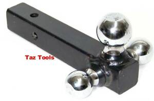 Triple-Ball-Hitch-Mount-For-2-034-Receiver-Tow-Trailer-1-7-8-034-2-034-2-516-034-Hitch-Balls