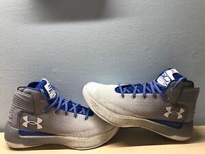 ac033b6e5e0 Under Armour Curry 3zero Basketball Shoes Size 10 Gray white royal ...