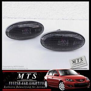 SCHWARZE Seitenblinker Mazda 2 DY/DE 3 BK/BL 5 6 GG/GY MPS Sports Line BT-50 MPV