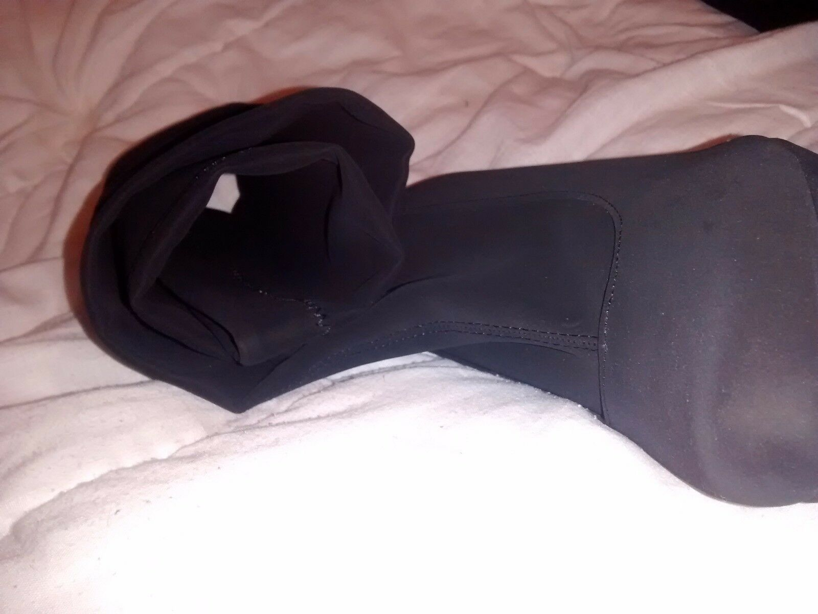BNIB 7 40 KNEE DUNE BLACK STRETCH OVER THE KNEE 40 OTK THIGH HIGH SOCK Stiefel 8a7545