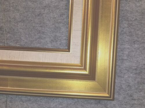 """3.75/"""" Antique Gold Leaf Ornate photo Oil Painting Wood Picture Frame 18G"""