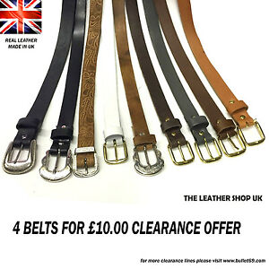 Mix-Design-Colour-Clearance-Offer-Lot-For-Mens-And-Womens-Unisex-Belts