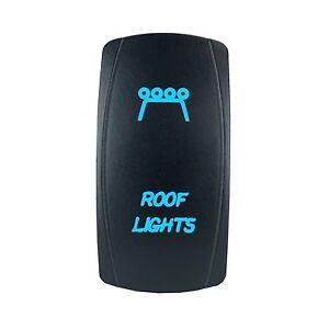 Laser ROOF LIGHTS Rocker Switch ON-OFF led Light 20A 12V 5pin BLUE