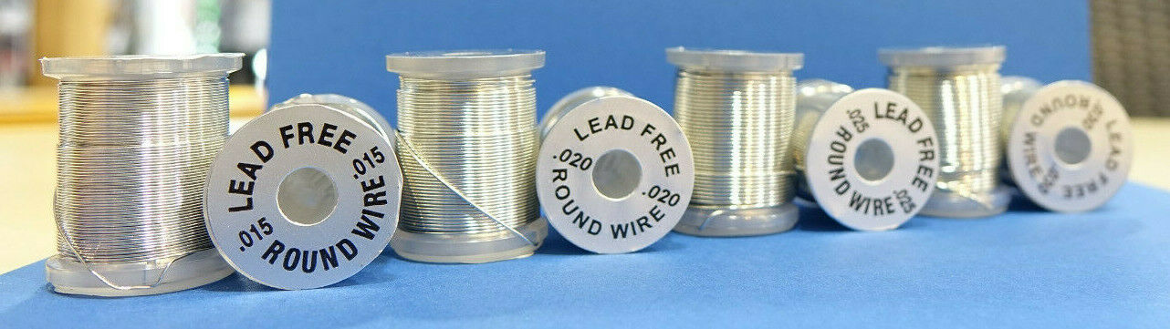 Round LEAD FREE Wire Ø .030 Runder bleifreier Draht Ø 0,75mm
