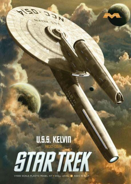Moebius Star Trek USS Kelvin 1:1000 scale model kit new 976