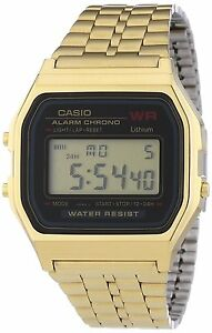 29e5f6380b0f Casio A159WGEA-1 Mens Gold Tone Stainless Steel Digital Watch ...
