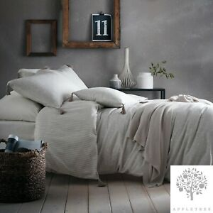 Appletree-Signature-TRENTON-SPOT-Linen-180TC-100-Cotton-Tasselled-Duvet-Set