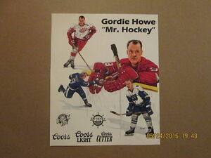 4b3073e2e9c NHL WHA Red Wings   Whalers Vintage Gordie Howe Hockey Poster