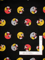 Mickey Mouse Disney Mickey In Dots Black Cotton Fabric Cp52199 Springs - Yard