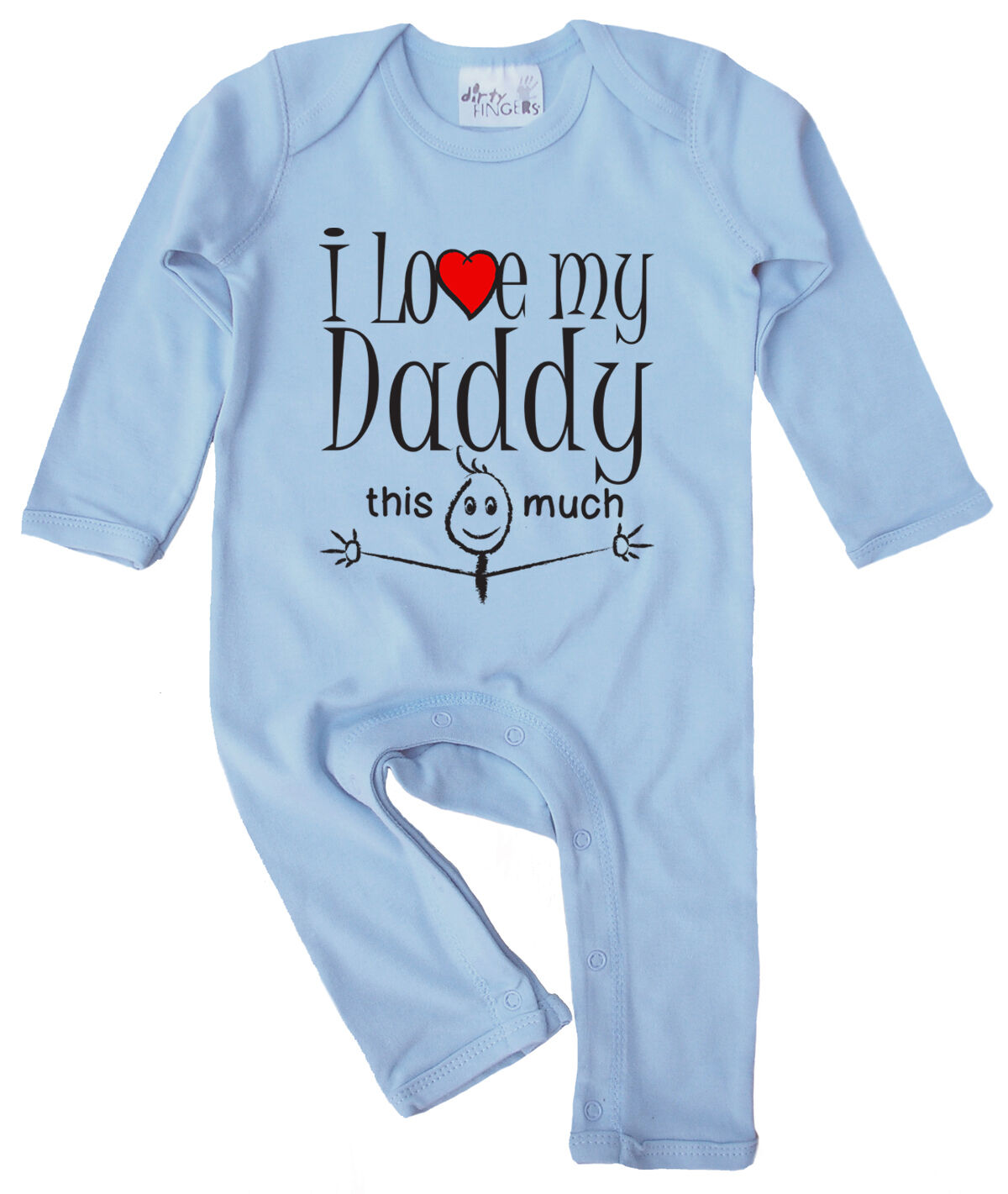 "Daddy Baby Clothes ""I Love My Daddy This Much"" Baby Romper Suit"