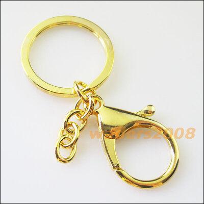 Split Ring Chain Antiqued Bronze 2 New Trigger Clasp Swivel Clip Key Bag Charm