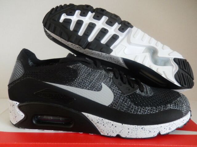 Nike Air Max 90 Ultra 2.0 Flyknit ID Black infrared white Silver 11 914123 991