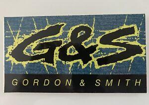 Vintage-G-amp-S-Gordon-amp-Smith-G-amp-S-Surfboard-Sticker-1980-039-s-RARE