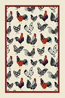 Ulster Weavers Rooster Linen Tea Towel, New, Free Shipping