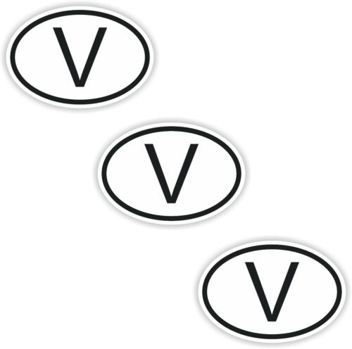 3x Black /& White Oval Stickers Vatican Small Country Code Phone Laptop Tablet