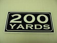 Vintage 200 YARD MARKER Metal Sign 4 Golf Club Yardage sign for Golf Course