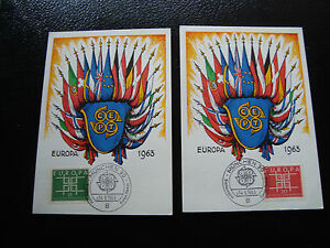 Germany-2-Cards-14-9-63-Europa-cy2