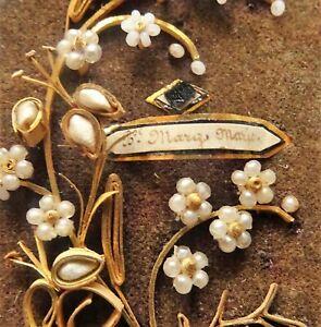 reliquaire ST marg marie - travail de perles et paperolles napoléon III