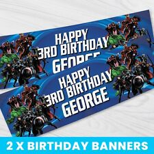 Comic Avengers 160gsm 1.3m Party PERSONALISED Banner Birthday Kids Boys Marvel
