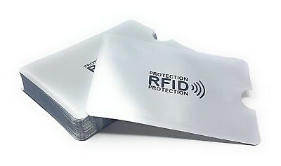 20 Pack RFID Anti Fraud Blocking Sleeve Contactless Credit Card Wallet Protector