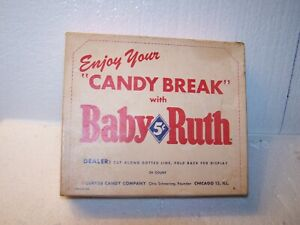 Vintage 5 cent Baby Ruth 24 count candy bar box Otto ...