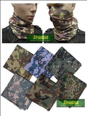 ARMY STYLE HEADOVER BANDANA SNOOD MULTI FUNCTION in CAMOUFLAGE