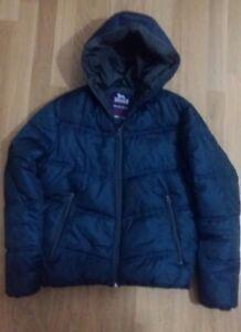 best authentic d1a8d 2f959 Dettagli su LONSDALE lotto 852 piumino giubboto giacca cappuccio BLU tg.XL