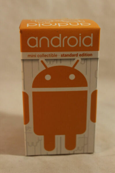 """Andrew Bell /& Dyzplastic Android Standard Edition Orange 3/"""" DESIGNER TOY Type"""
