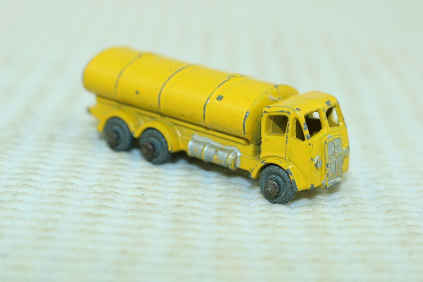 Matchbox Lesney No 11a E.R.F. Petrol Tanker yellow - England
