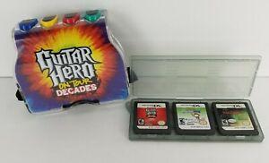 Nintendo-DS-Lot-Of-3-Games-Controller-Hand-Grip-Guitar-Hero-Narnia-Scribblenauts
