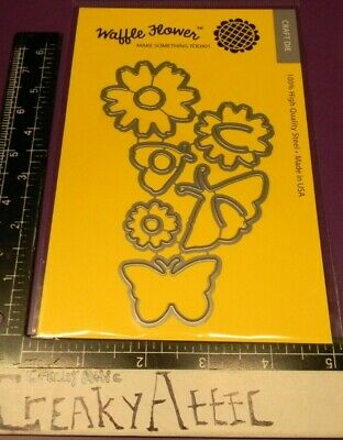 MAGICAL BUTTERFLY DIE CUTS CUTTING EMBOSS STENCIL WAFFLE FLOWER CREAKYATTIC