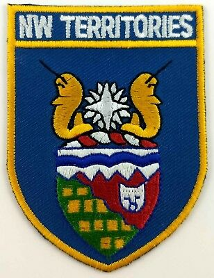 Northwest Territories Flag Patch Embroidered Iron On Applique