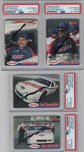 1992 Traks Baby Ruth Jeff Gordon NASCAR Signed Auto 4 Card ...