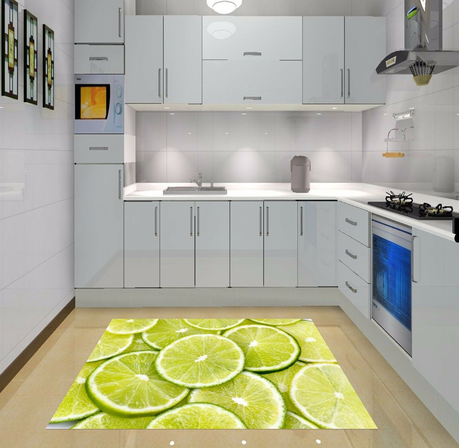 3D Lemon fruit202 Kitchen Mat Floor Murals Wall Print Wall Deco AJ WALLPAPER UK