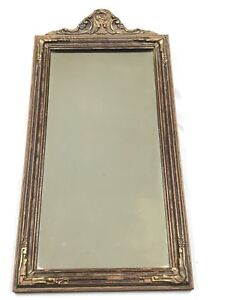 """Rare Antique NARCISSUS Mirrors Victorian Wall Mirror Wood w Gesso Frame  25.5"""""""