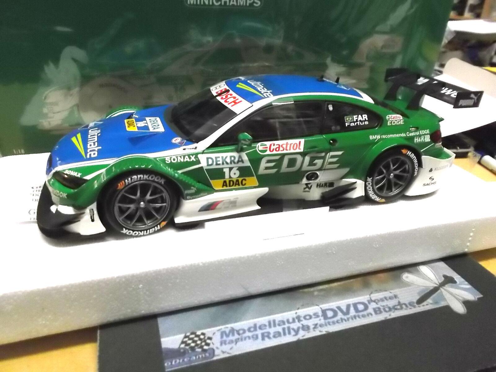 BMW m3 e92 COUPE DTM 2012 Farfus CASTROL EDGE Aral  16 s-prix Minichamps 1 18