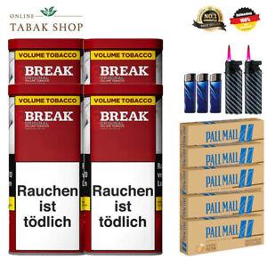 4-x-Break-Original-Volumen-Tabak-120g-1000-Authentic-Huelsen-5-Feuerzeuge