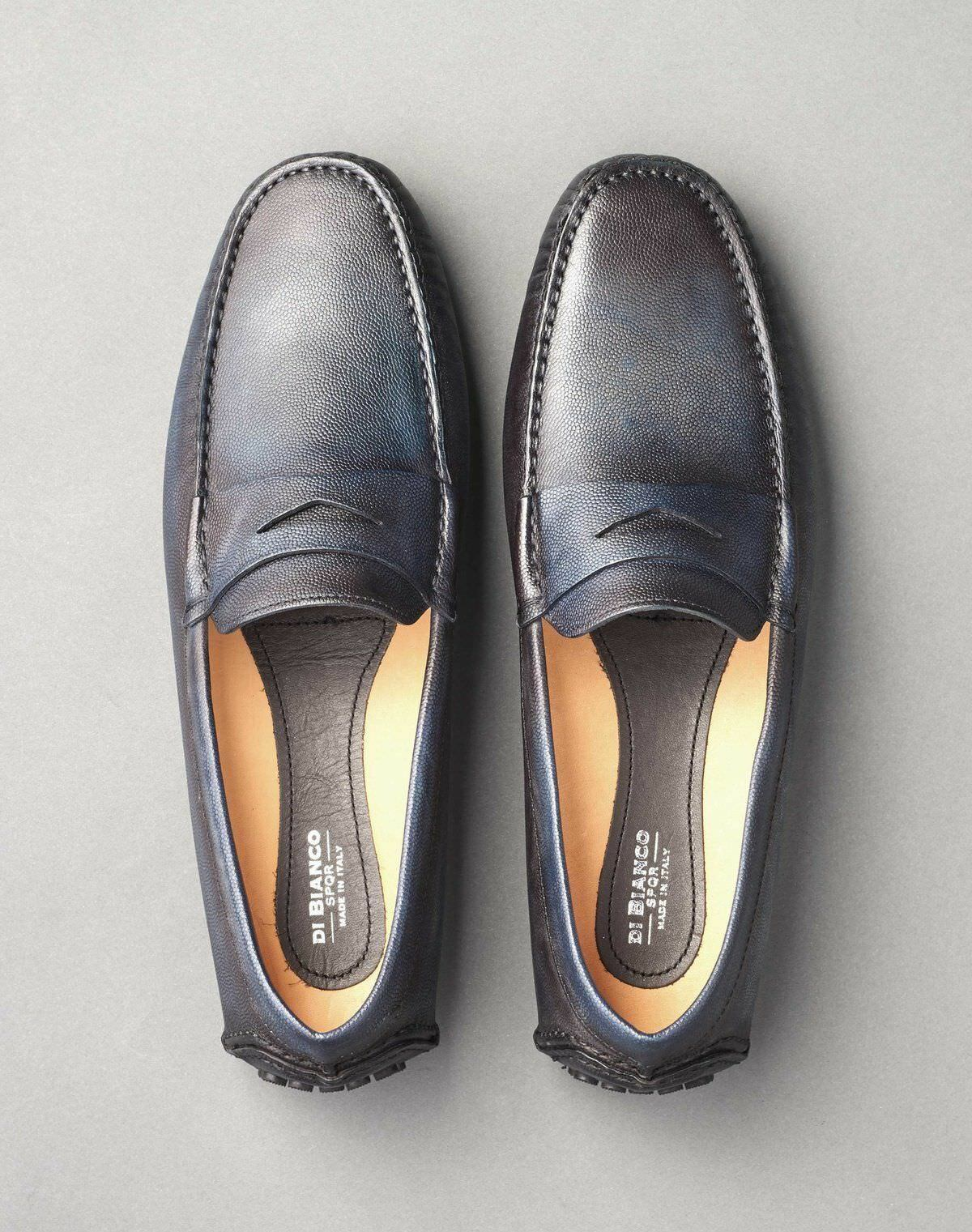 shoes Di Bianco 'Oceano' SPQR Moccasin Loafer bluee shoes 11.5