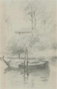 Franco Matania (1922-2006) - 20th Century Graphite Drawing, Rowing Boat
