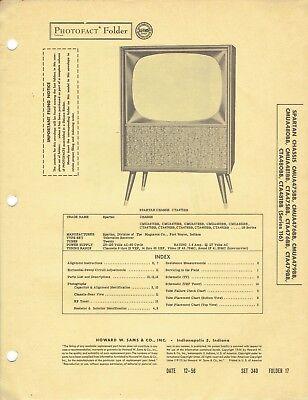 ORIGINAL 1956 Spartan TV CMUA475BB Service Manual PHOTOFACT SCHEMATIC 169 EBay