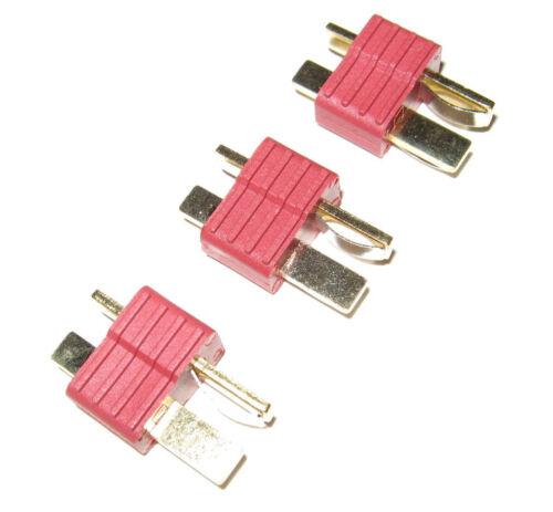 3x Dean nylon Maschio-Connettore a Spina T per le batterie al litio T-plug Lipo DEAN