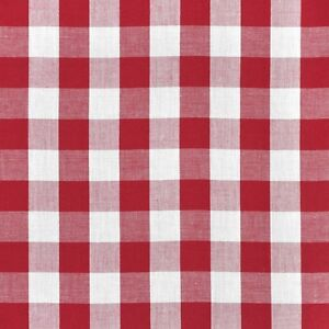 "10 Yards Checkered Fabric 60"" Wide Gingham Buffalo Check Tablelcoth Fabric Decor"