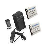 Two 2x Batteries + Charger For Sanyo Vpc-cg20 Vpc-cg21 Vpc-cg22 Vpc-cs1 Vpc-gh1