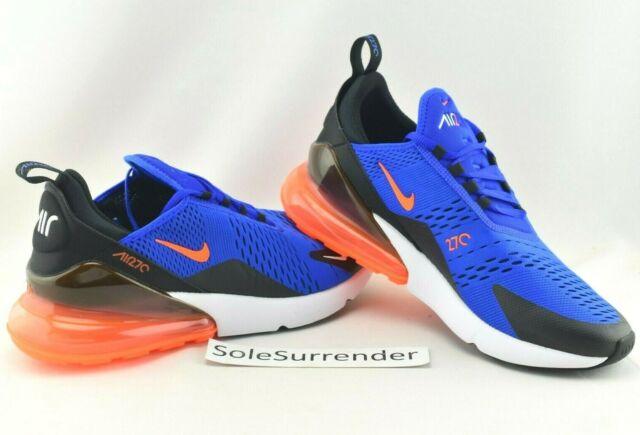 Nike Men's Air Max 270 Racer Blue HYPER Crimson Black Ah8050 401 Sz 10