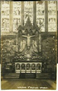 England St Peter;s Church Interior unknown town - posted 1906