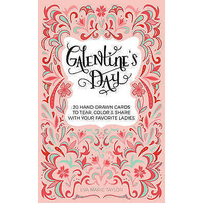 Galentine's Day 20 Hand-Drawn Cards Tear Color Share wit by Taylor Eva Marie