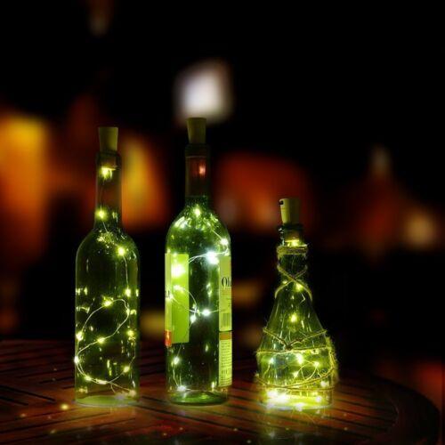 Cork Shaped 15 LED Night Light Starry Lights Wine Bottle Lamp For Party ILOVE