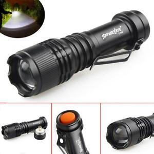 SKYWOLFEYE  XP-E Q5 pocket clip  led flashlight  Zoom  Aluminum  Super Bright WT