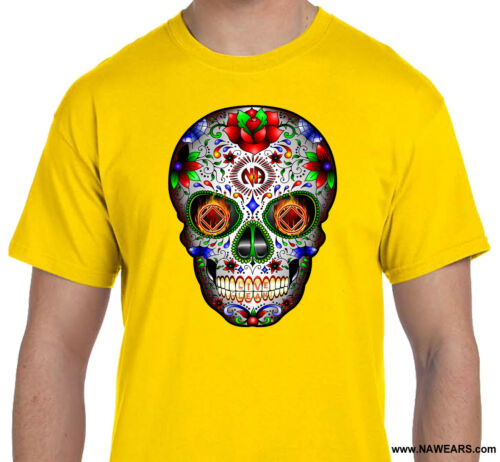 Narcotics Anonymous SUGAR SKULL 2019 Graphic T-shirt  S-4X 100/% Cotton